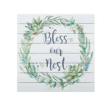 20 Square Bless Our Nest Wood Wall Decor Christmas Tree Shops And That Home Decor Furniture Gifts Store