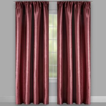 "63"" Moore Red Wraparound Window Curtains, Set of 2 view 2"