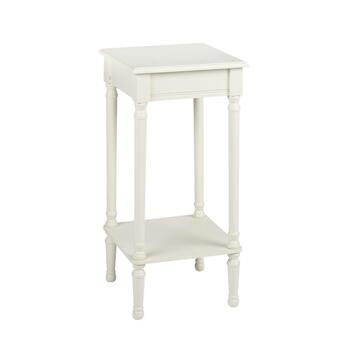 "14.25"" Ivory Square Accent Table"