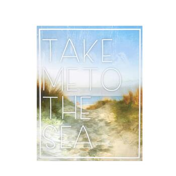 "16""x20"" ""Take Me To The Sea"" Coastal Indoor/Outdoor Wall Decor"