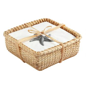 Starfish Paperweight Napkin Basket