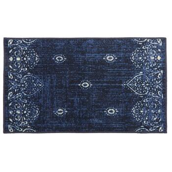 Mohawk Home Blue/Ivory Damask Printed Accent Rug