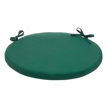 Solid Hunter Green Indoor/Outdoor Round Bistro Seat Pad