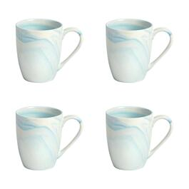 The Grainhouse™ Marble Swirl Mugs, Set of 4