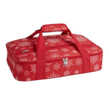 Red Snowflakes Casserole Carrier