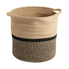 The Grainhouse™ Braided Bottom Coiled Fabric Basket with Handles view 1