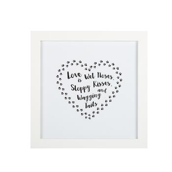 "15"" ""Love is Wet Noses"" Framed Wall Decor"