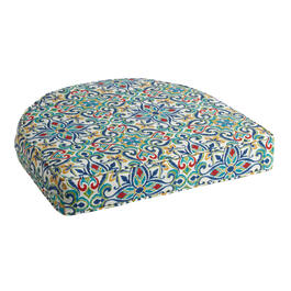 Multicolor Damask Indoor/Outdoor Gusseted Seat Pad view 1