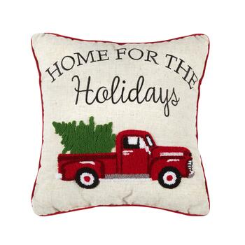 """Home For the Holidays"" Square Throw Pillow"