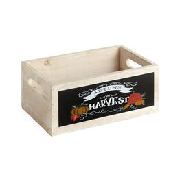 "7""x7.25"" ""Autumn Harvest"" Wood Storage Crate"