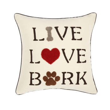 Live Love Bark Cotton Square Throw Pillow Christmas Tree Shops And That Home Decor Furniture Gifts Store