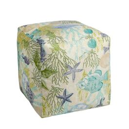 Aquatic Life Indoor/Outdoor Square Ottoman