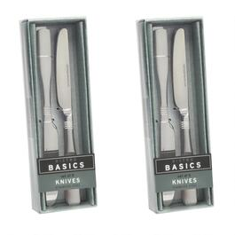 5-Piece Etched Lines Knives, Set of 2