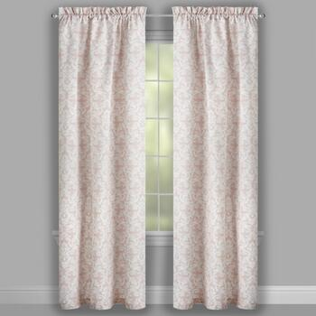 "84"" Pink Belaire Damask Window Curtains, Set of 2 view 2"