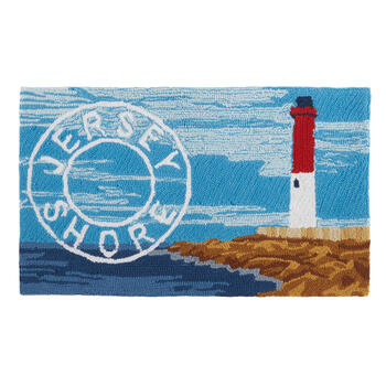 """Jersey Shore"" Lighthouse Hand-Hooked Door Mat view 1"