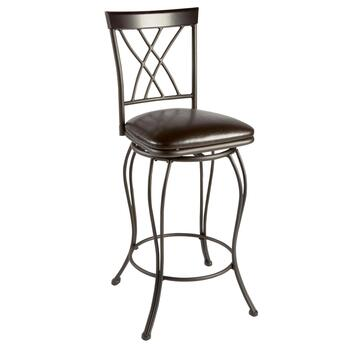 Dark Bronze Crisscross Back Swivel Barstool