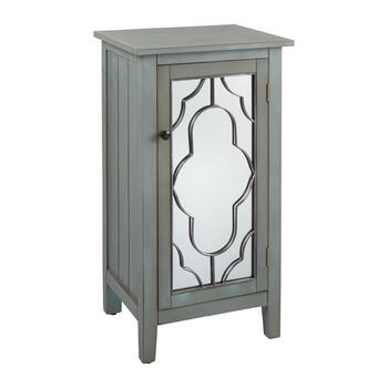 Bliss Mirrored 1-Door Storage Cabinet view 1