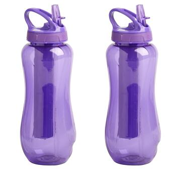 Purple EZ-Freeze® Horizon Water Bottles, Set of 2