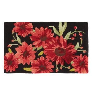 Red Flowers Hooked Multipurpose Mat