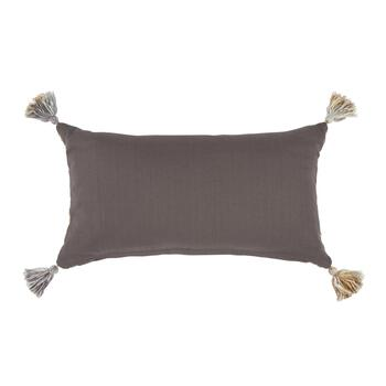The Grainhouse™ Tan/Gray Tasseled Throw Pillow view 2