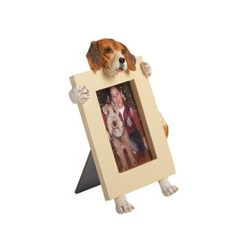 "2.5""x3.5"" Tan/White Face Dog Frame"