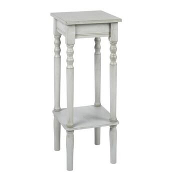 Square Hourglass Legs Accent Table