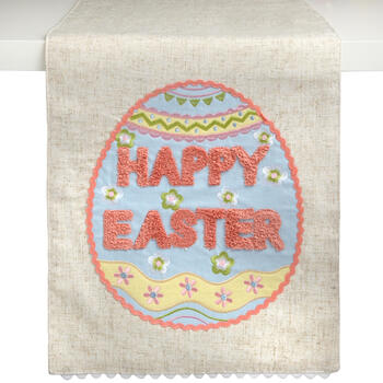 """Happy Easter"" Egg Table Runner view 1"