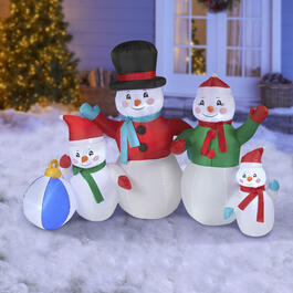 Airblown® Inflatable Indoor/Outdoor Snowman Family view 1