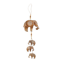 "27"" Elephant Family Hanging Wood Ornament view 1"