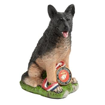 "20"" Honorable Marine Military Dog Decor"