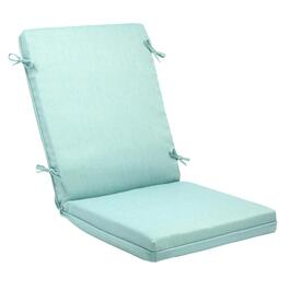 Solid Blue Woven Indoor/Outdoor Hinged Chair Pad
