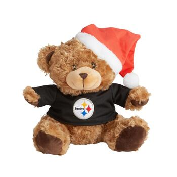 "10.5"" Pittsburgh Steelers Santa Bear"