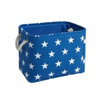 Blue/White Stars Rectangular Storage Bin