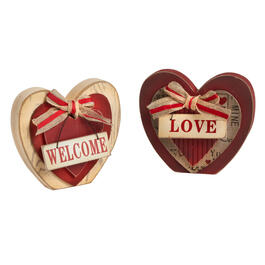 Wood Heart Sitters, Set of 2 view 1