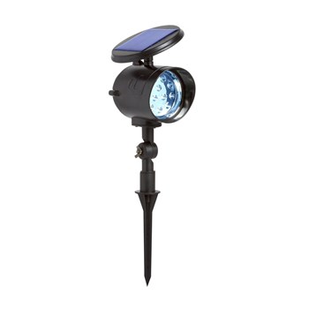 "9.75"" Solar-Powered Spotlight Stake"