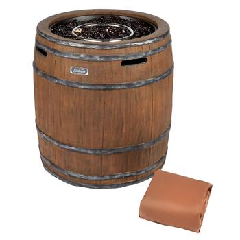 Wine Barrel Propane Gas Fire Pit