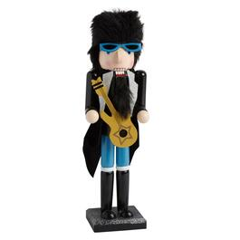 "15"" Rock Star with Guitar Nutcracker"
