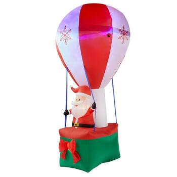 12' Airblown® Inflatable Lighted Santa in Hot Air Balloon