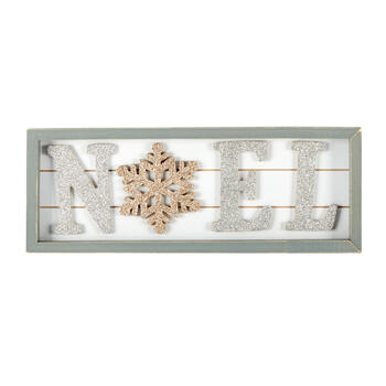 "17.75"" Glittery ""Noel"" Wood Sign view 1"