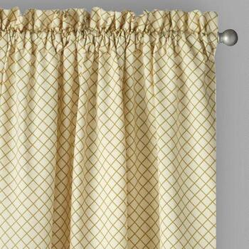 "Traditions by Waverly® 84"" Crisscross Window Curtains, Set of 2"