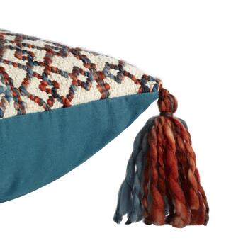 "The Grainhouse™ 18"" Tribal Geo Tassel Square Throw Pillow view 2 view 3"