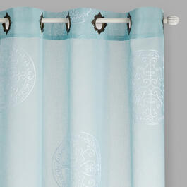 "84"" Medallion Embroidered Window Curtains, Set of 2 view 1"
