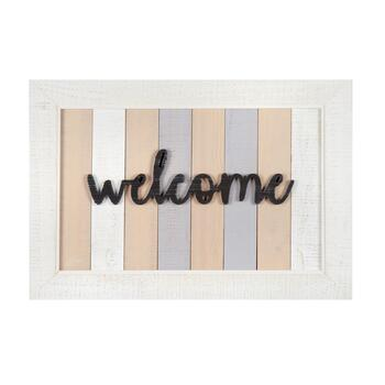 "The Grainhouse™ ""Welcome"" Slatted Wall Decor"