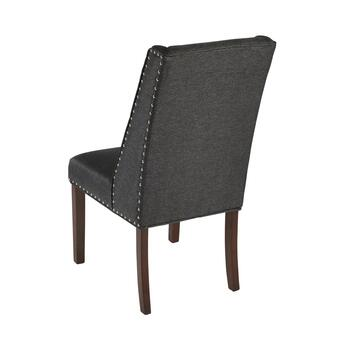 "38.5"" Winged Back Parsons Chair with Nailheads view 2"