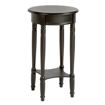 Round Accent Table with Square Shelf