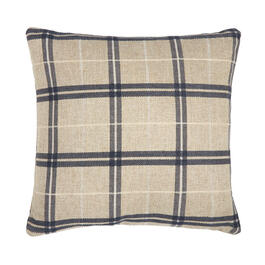 Plaid Feather-Fill Square Throw Pillow view 1