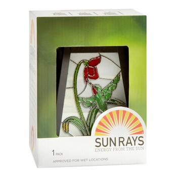 Hummingbird Stained Glass Solar Lantern view 2