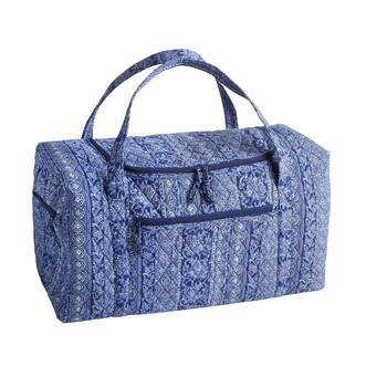 Blue Bandana Quilted Overnight Tote Bag
