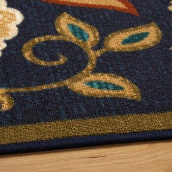5'x7' Blue/Tan Floral Area Rug view 2