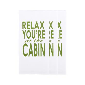 """Relax You're at the Cabin"" Cotton Hand Towels, Set of 3"